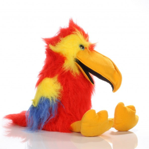 Large Bird - Scarlet Macaw Puppet w Squawk Voice - Off The Wall Toys and Gifts