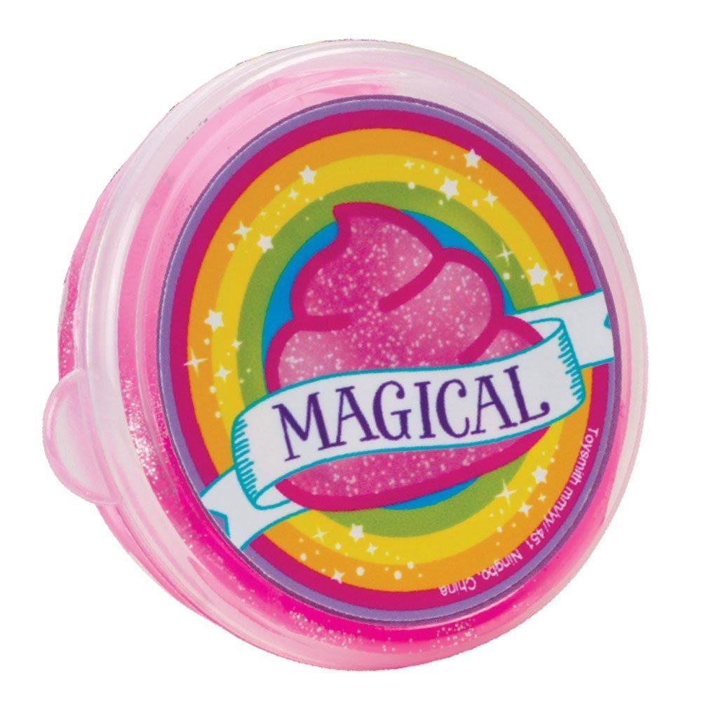 Magical Sparkly Pink Unicorn Poop Slime by Toysmith