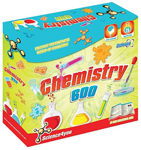 Chemistry 600 Science Experiment Kit by Science4You - Off The Wall Toys and Gifts