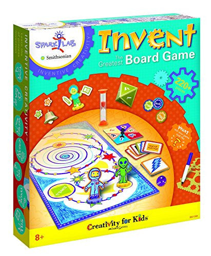 "Creativity For Kids Spark!Lab Smithsonian ""Invent the Greatest"" Board Game - Off The Wall Toys and Gifts"