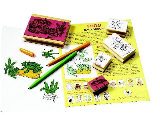 Lifecycle of the Frog Rubber Stamper Set: 5 Stamps & Teachers Guide - Off The Wall Toys and Gifts