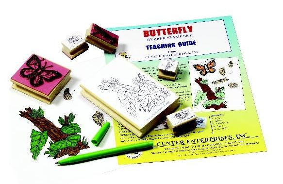 Lifecycle of the Butterfly Rubber Stamper Set of 6 w/ Teachers Guide - Off The Wall Toys and Gifts