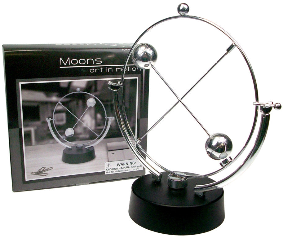 Moons in Motion - Revolving Desktop Kinetic Art Piece - Off The Wall Toys and Gifts
