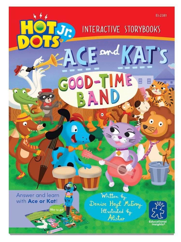 Hot Dots Jr - Interactive Educational Storybook - Ace and Kat's Good Time Band - Off The Wall Toys and Gifts