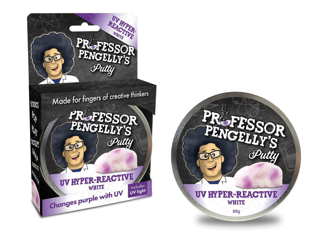 Professor Pengelly's UV Hyper-Reactive Putty - White