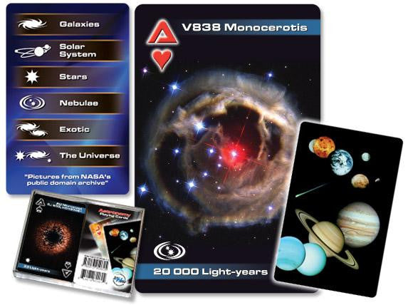 Astronomy Playing Cards Double Deck with Solar System, Planets, Stars, Galaxies