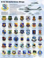 B-52 Stratofortress Wings Poster 18 x 24 Military Airplanes