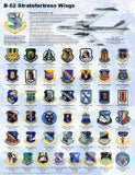 B-52 Stratofortress Wings Poster 18 x 24 Military Airplanes - Off The Wall Toys and Gifts