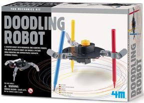 Doodling Robot Kit 4M Fun Mechanics Science Project Kit - Off The Wall Toys and Gifts