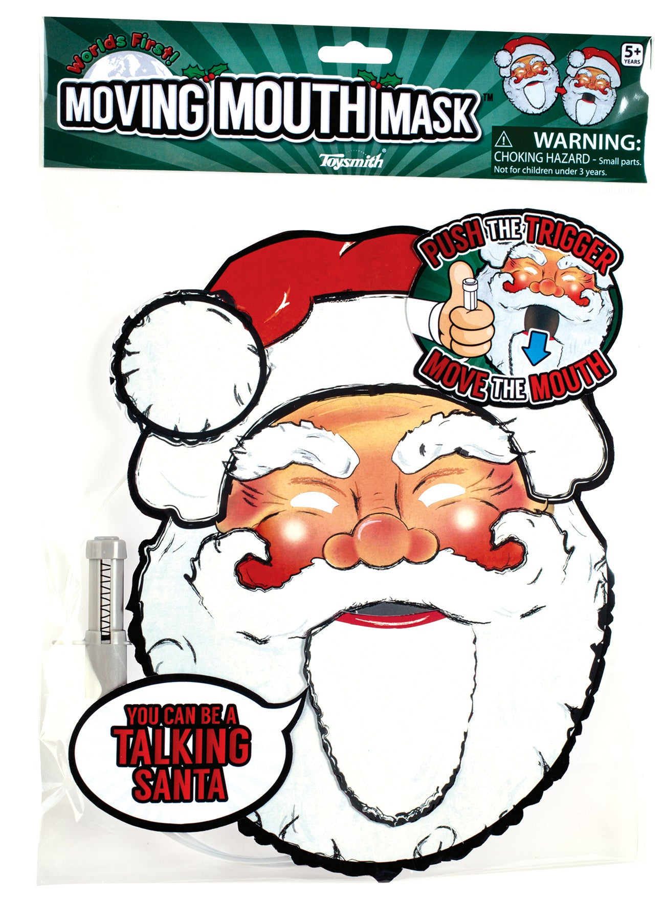 Paper Santa Face Moving Mouth Mask Talking Headz - Off The Wall Toys and Gifts