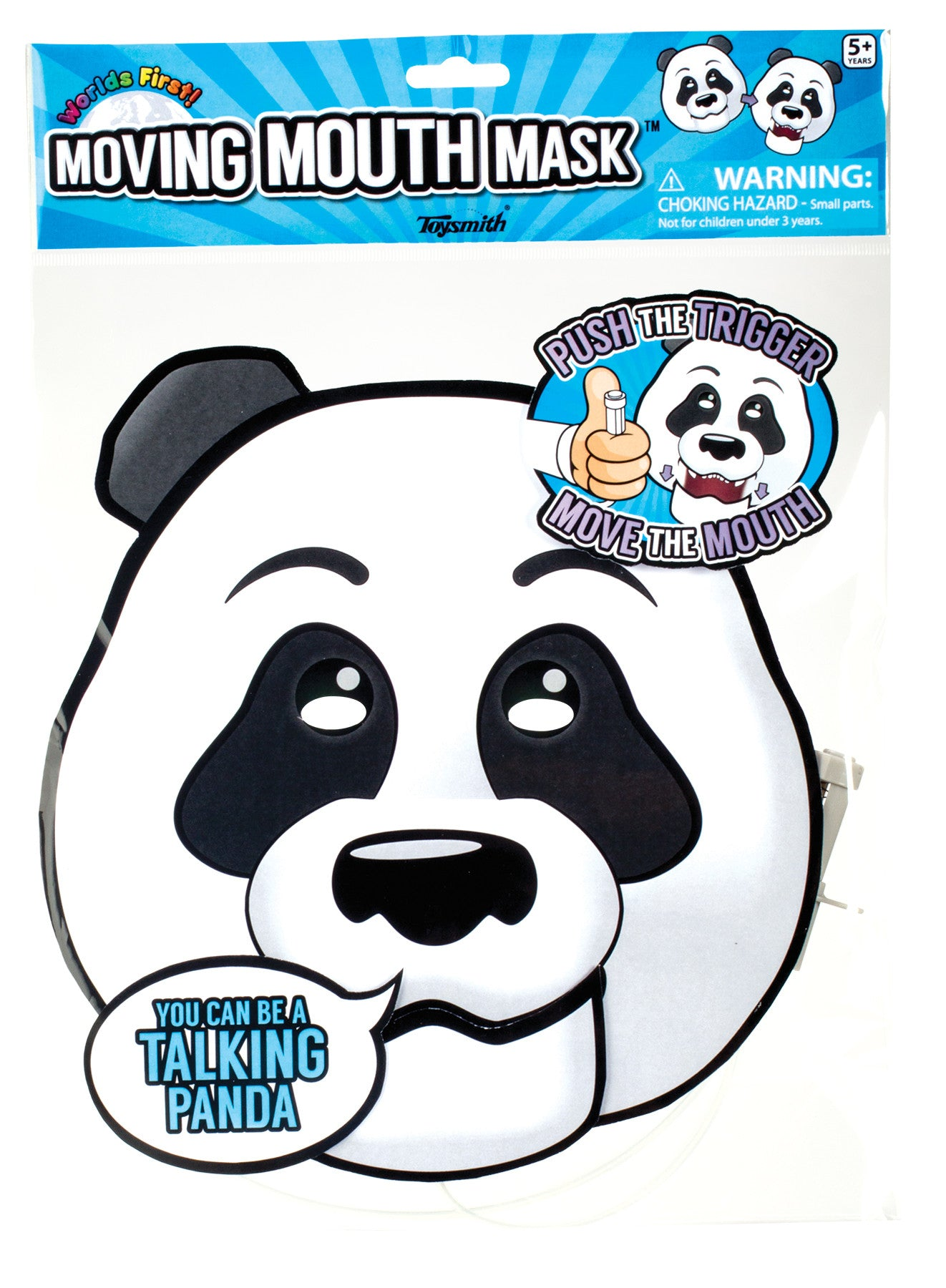 Paper Panda Face Moving Mouth Mask Talking Headz Critter - Off The Wall Toys and Gifts
