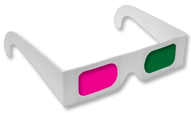 Anaglyph 3D Glasses Magenta/Green View 3D Movies Like Monsters Vs Aliens - Off The Wall Toys and Gifts