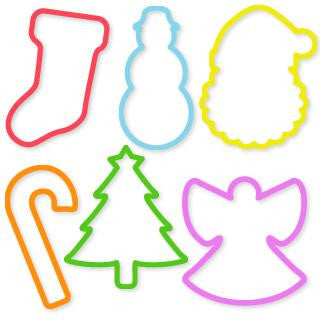 Silly Bandz Holiday Shaped Rubber Bands 24pk - Off The Wall Toys and Gifts