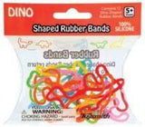 DINO (6 styles) Animal Rubber Band Bracelets Dinosaur 12 per pack - Off The Wall Toys and Gifts