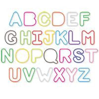Silly Bandz ALPHABET Shaped Rubber Band Bracelets 36/pk - Off The Wall Toys and Gifts