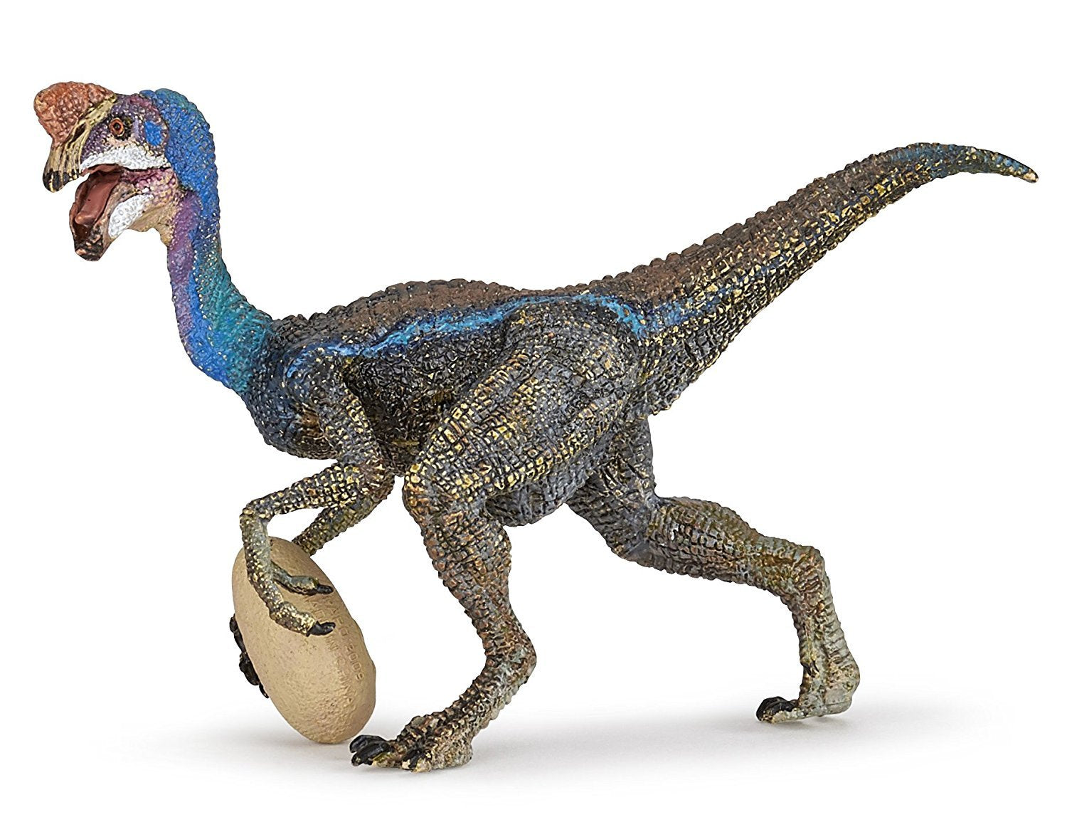 "5"" Long Blue Oviraptor - Realistic Dinosaur Replica, by Papo"