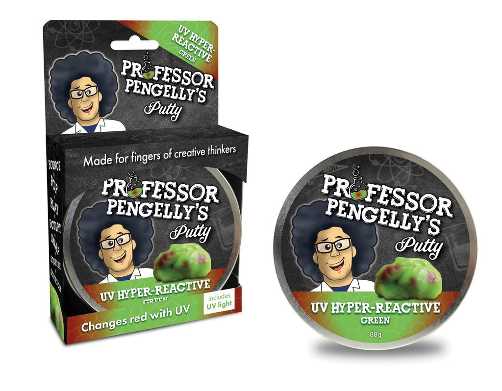 Professor Pengelly's UV Hyper-Reactive Putty - Green
