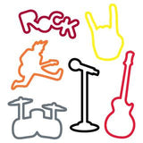 Silly Bandz Rock Band Rubber Band Bracelets 24pk - Off The Wall Toys and Gifts