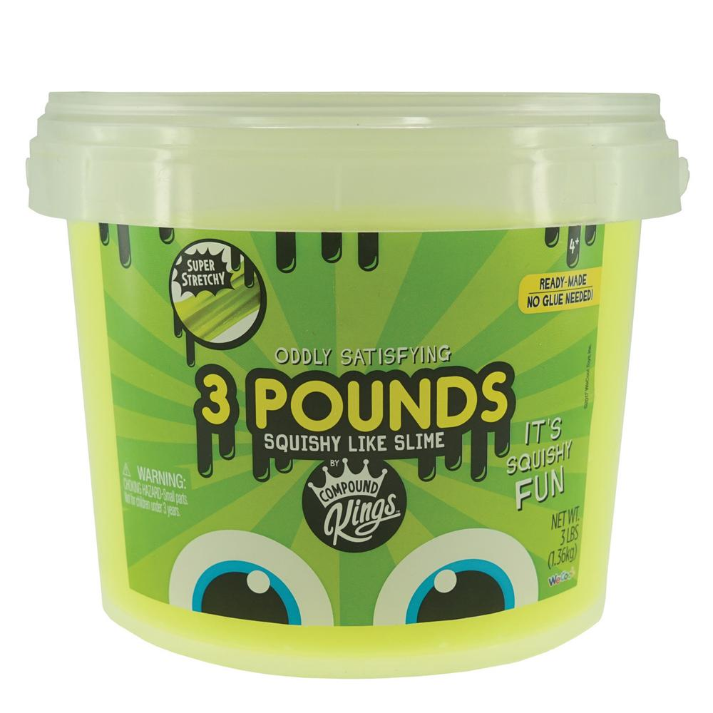 3 Pound Tub of Squishy Like Neon Yellow Slime by Compound Kings