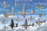Laminated USAAF Warbirds WWII Poster 24x36 Scaled - Off The Wall Toys and Gifts