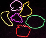 Fruit Shaped Rubber Band Bracelets Bandimals 24PK - Off The Wall Toys and Gifts