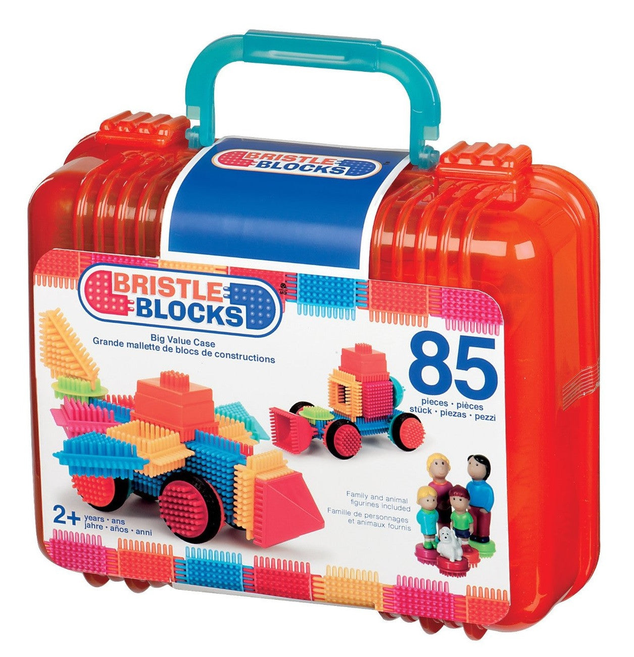 85pc Bristle Blocks Builder Set w/Storage Case - Off The Wall Toys and Gifts