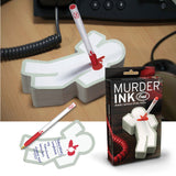 Murder Ink Pad Deadly Serious Sticky Notes - Off The Wall Toys and Gifts