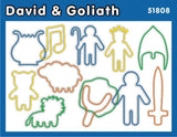 David and Goliath: Christian Faith Bands Rubber Band Bracelets 12pk - Off The Wall Toys and Gifts