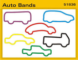 Pk of 12 Faith Bands Shaped Rubber Bands: AUTO BANDS - Off The Wall Toys and Gifts