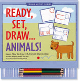 Ready, Set, Draw, Animals Art Activity Book - Off The Wall Toys and Gifts