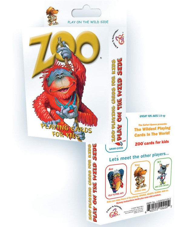 Zoo Animal Standard Playing Cards For Kids - Off The Wall Toys and Gifts