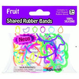 Neon Fruit Shape Rubber Band Bracelets 12pk - Off The Wall Toys and Gifts