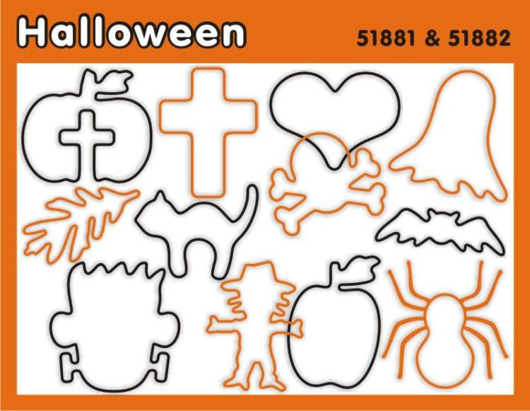 Halloween Faith Bands Rubber Band Silicone Bracelets - 12 Pack