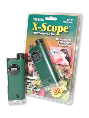 X-Scope 7 Function Optical Tool: Microscope, Telescope, Magnifier - Off The Wall Toys and Gifts