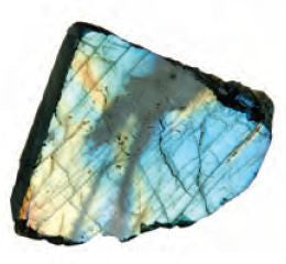 Labradorite Treasure Chest Collector Rock 1-1.25 Inch w Info Card - Off The Wall Toys and Gifts