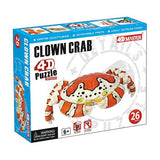 4D Master Clown Crab Model 26 Piece Puzzle Realistic Detail - Off The Wall Toys and Gifts