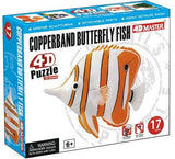 4D Copperband Butterfly Fish 17 Piece Puzzle Realistic Detail - Off The Wall Toys and Gifts