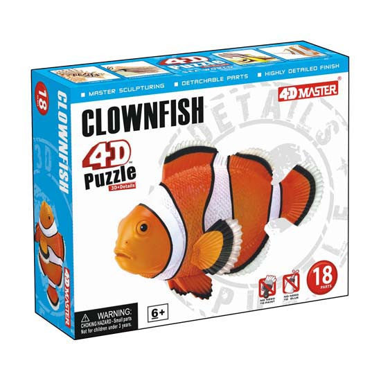 4D Clownfish Model 18 Piece Puzzle Realistic Detail - Off The Wall Toys and Gifts