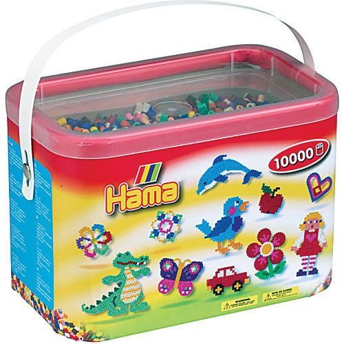 Hama Beads in a Bucket 10000 Piece - Midi Bead 5mm - Assorted Colors - Off The Wall Toys and Gifts