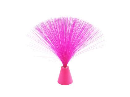 Pink Fiber Optic Fountain Lamp w/ Red Light Battery Operated - Off The Wall Toys and Gifts