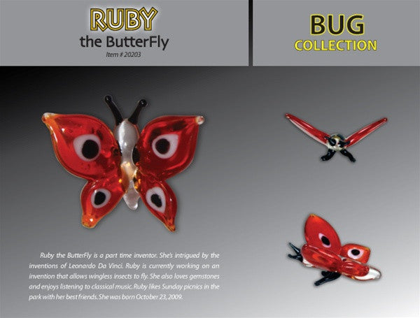 Looking Glass Torch Figurine-Ruby the Butterfly-Ltd Ed - Off The Wall Toys and Gifts