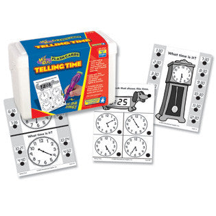Hot Dots Telling Time Flashcards  Kit - Grade 1+