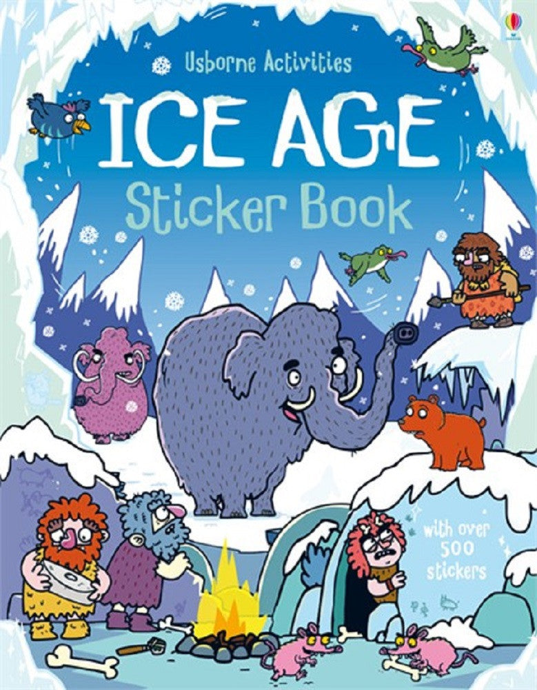 Ice Age Sticker Book - A Paperback Activity by Usborne - Off The Wall Toys and Gifts