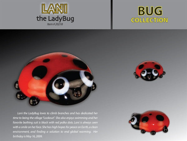 Looking Glass Torch Figurine-Lani the Ladybug-Ltd Ed - Off The Wall Toys and Gifts