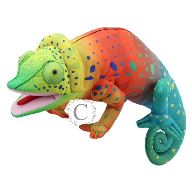 Large Creatures Chameleon Hand Puppet by The Puppet Company