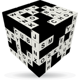 Crossword V-Cube 3 Puzzle Cube, with Flat Sides