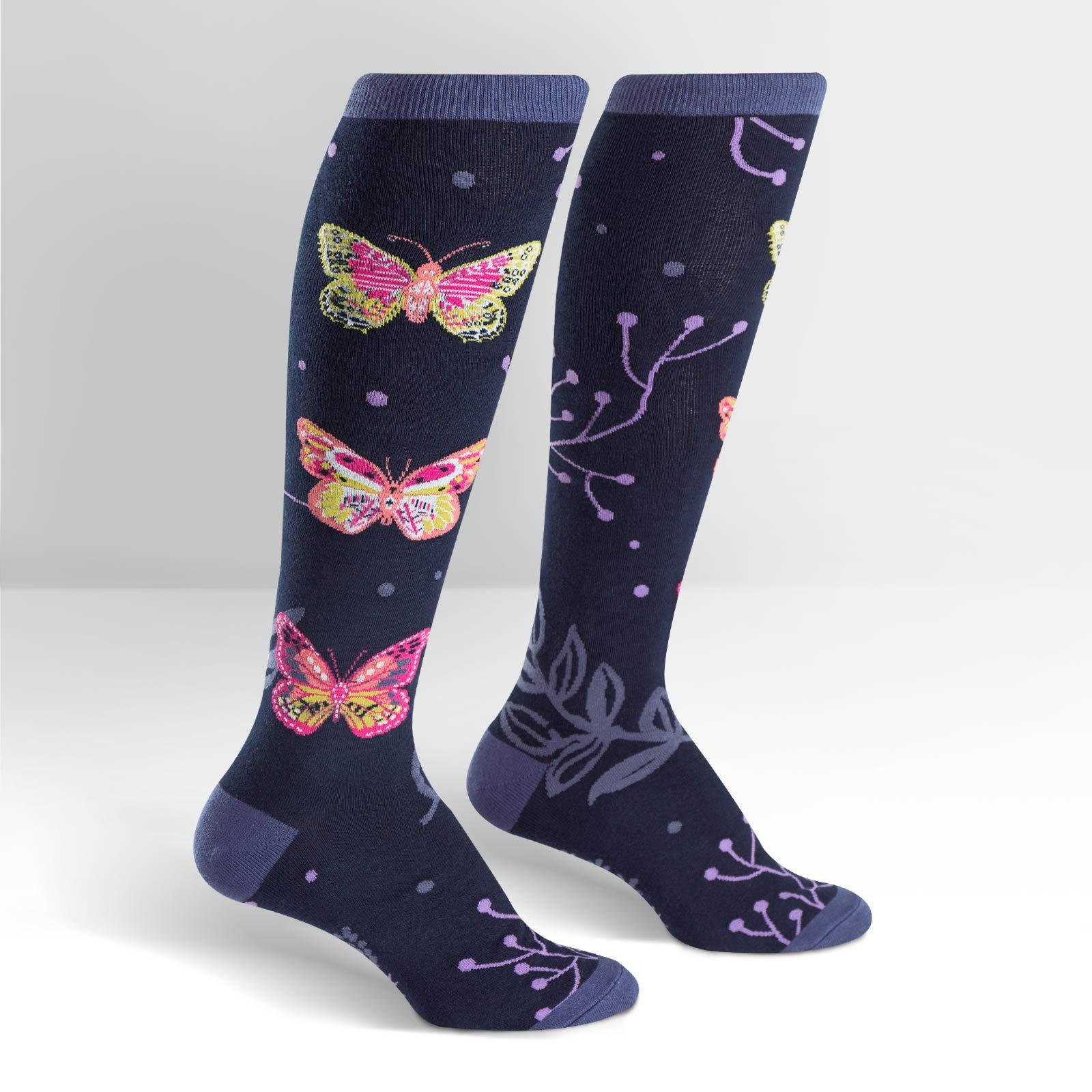 Sock It To Me Madame Butterfly Knee High Socks