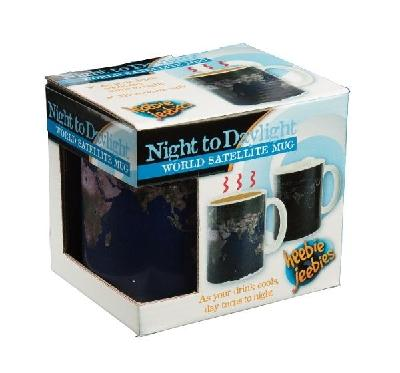 Night to Daylight World Satellite Coffee & Beverage Mug