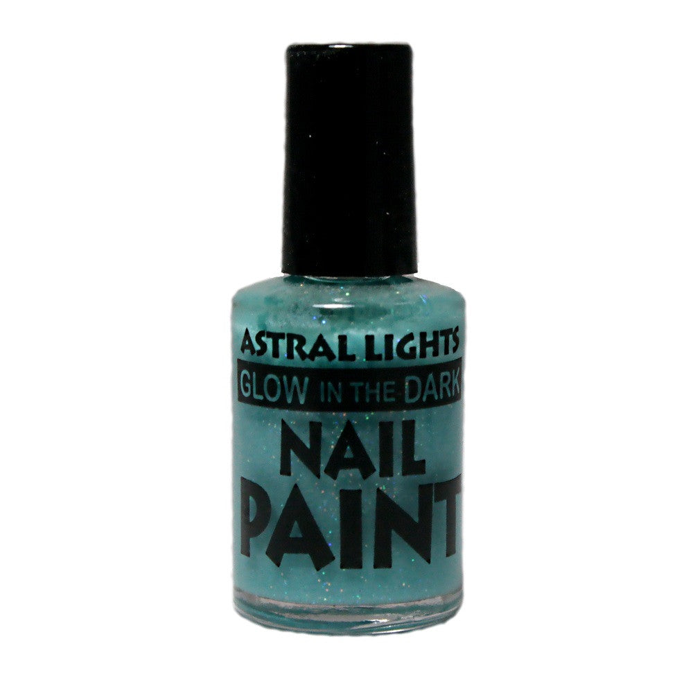 Glow in the Dark Nail Polish Astral Lights One Bottle of Blue - Off The Wall Toys and Gifts