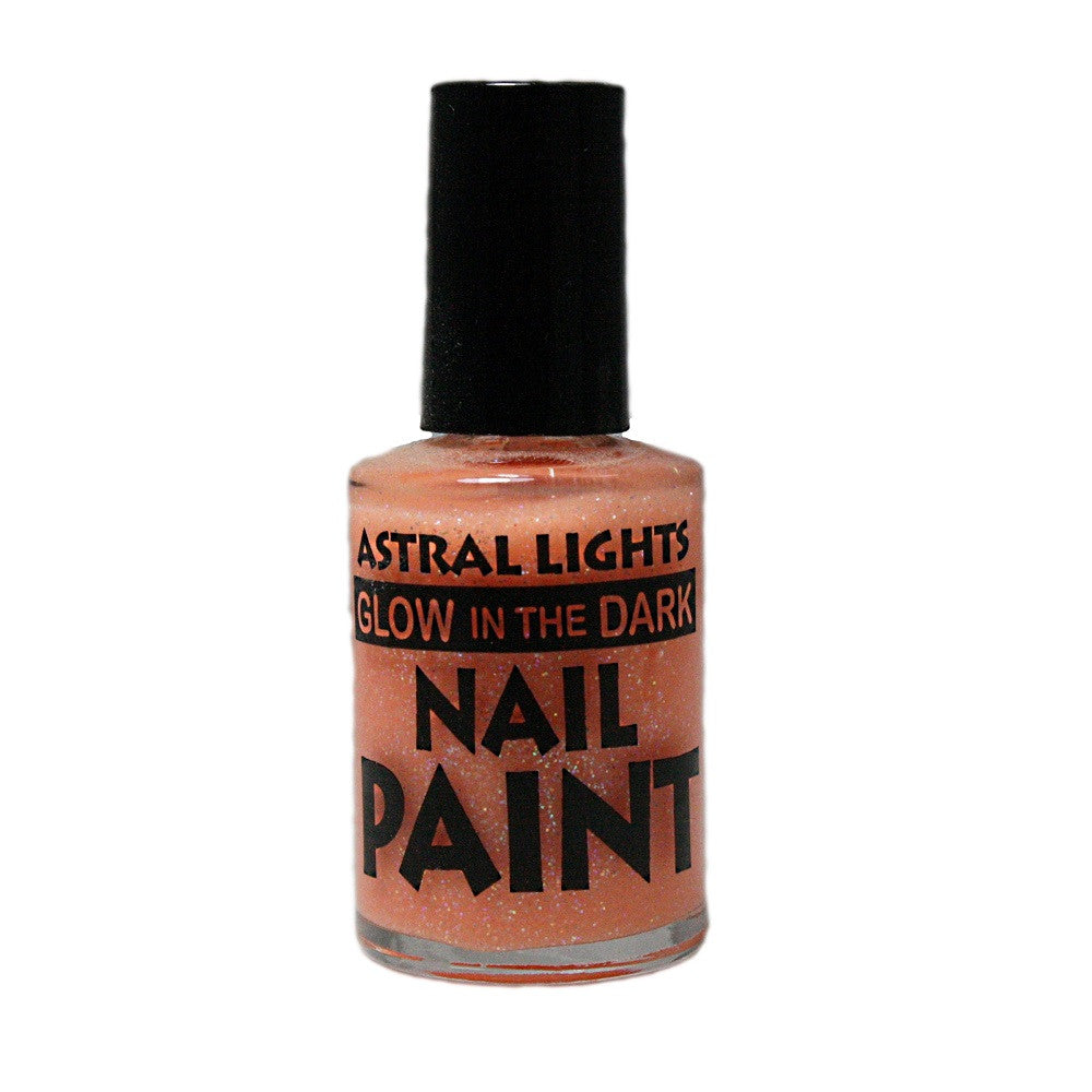 Glow in the Dark Nail Polish Astral Lights One Bottle of Orange